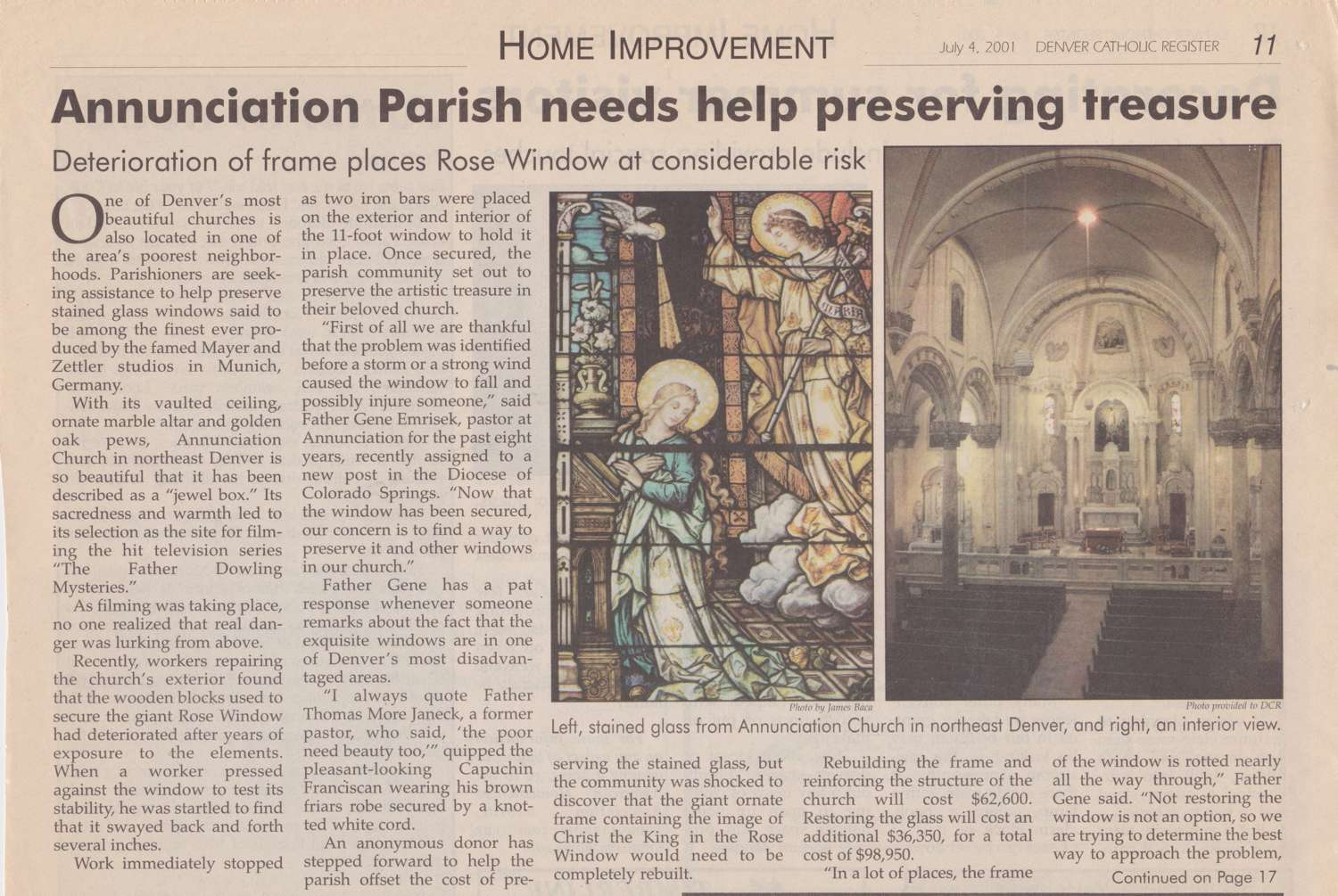 Annunciation preservation article