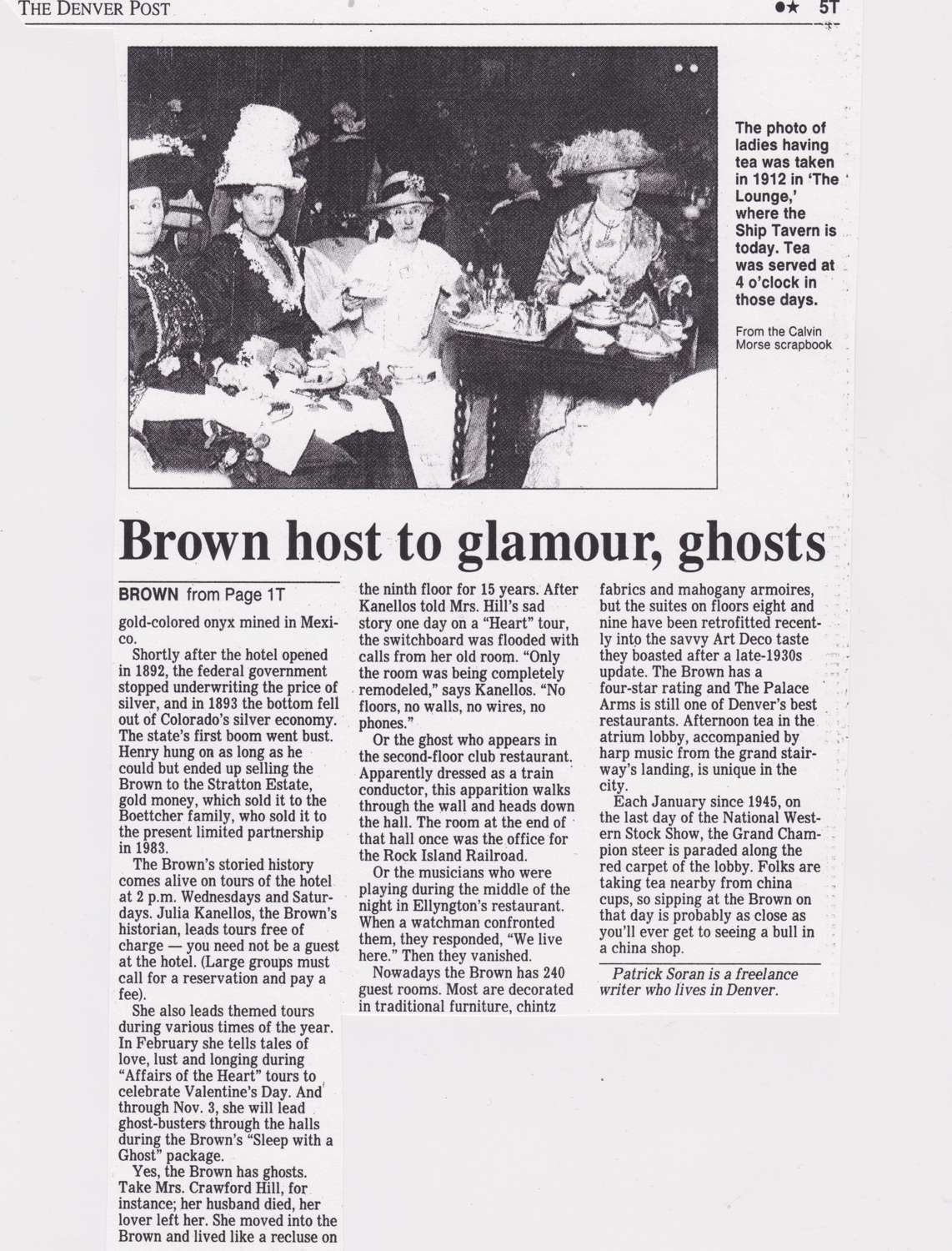 Brown host to glamour; ghosts