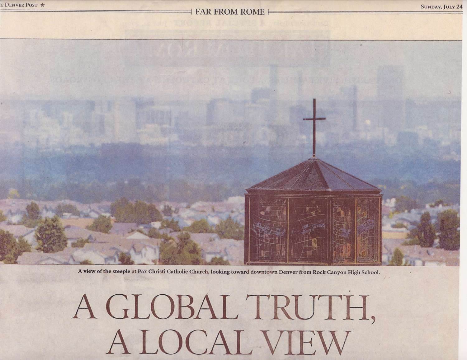 A global truth, a local view