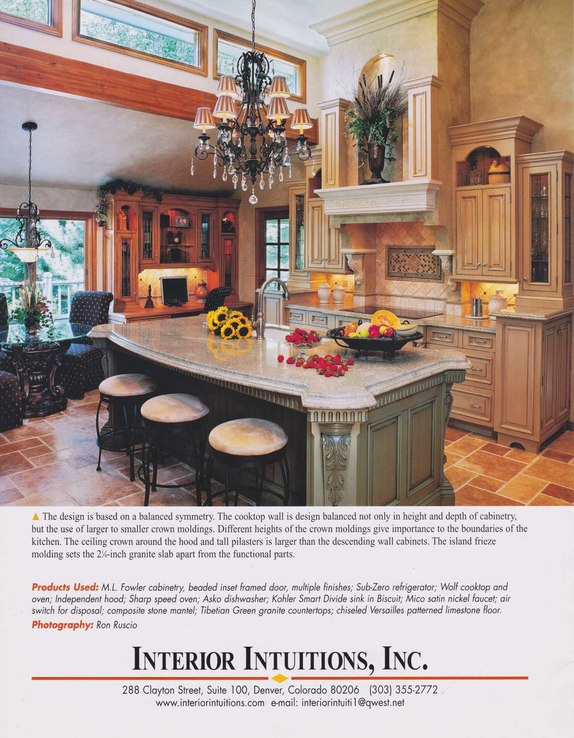 interior intuitions inc brochure kitchen spread page 1