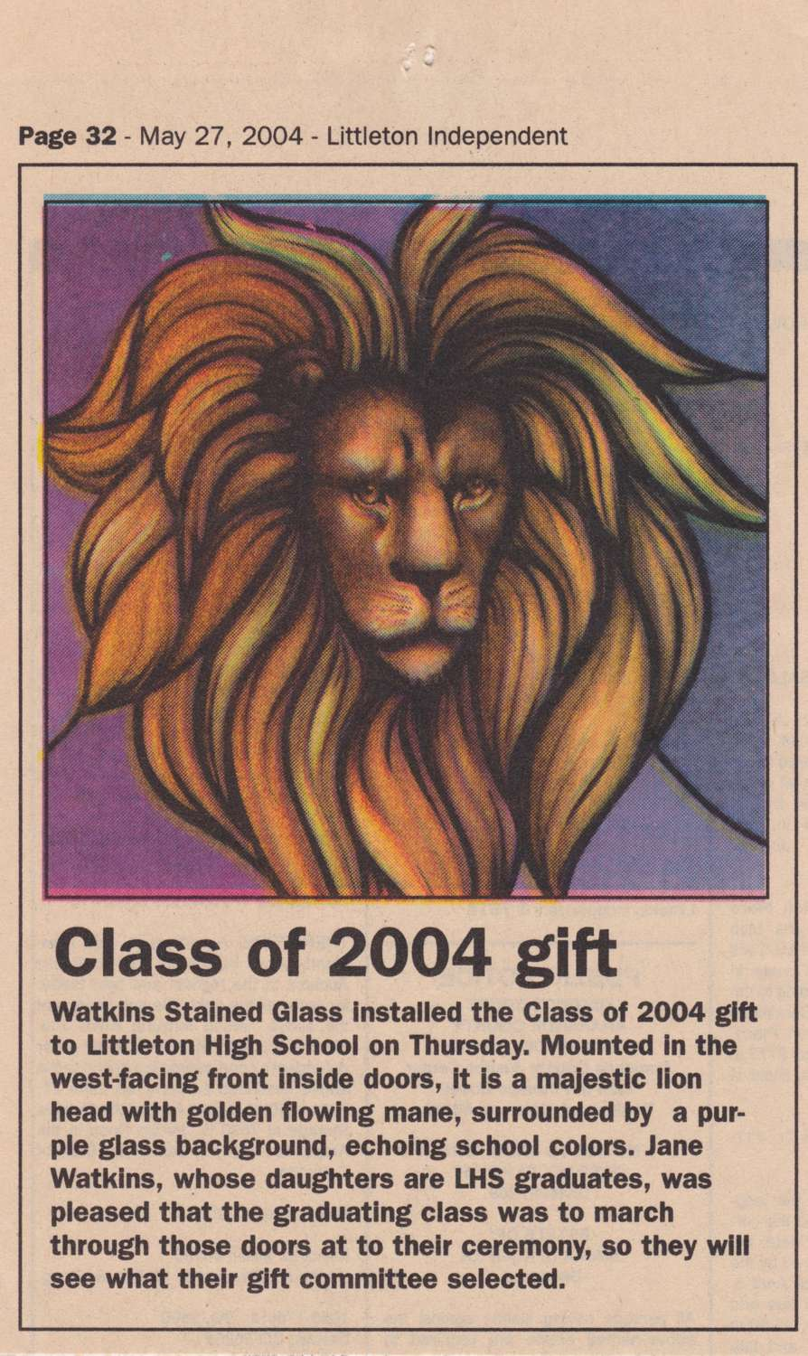 Class of 2004 gift