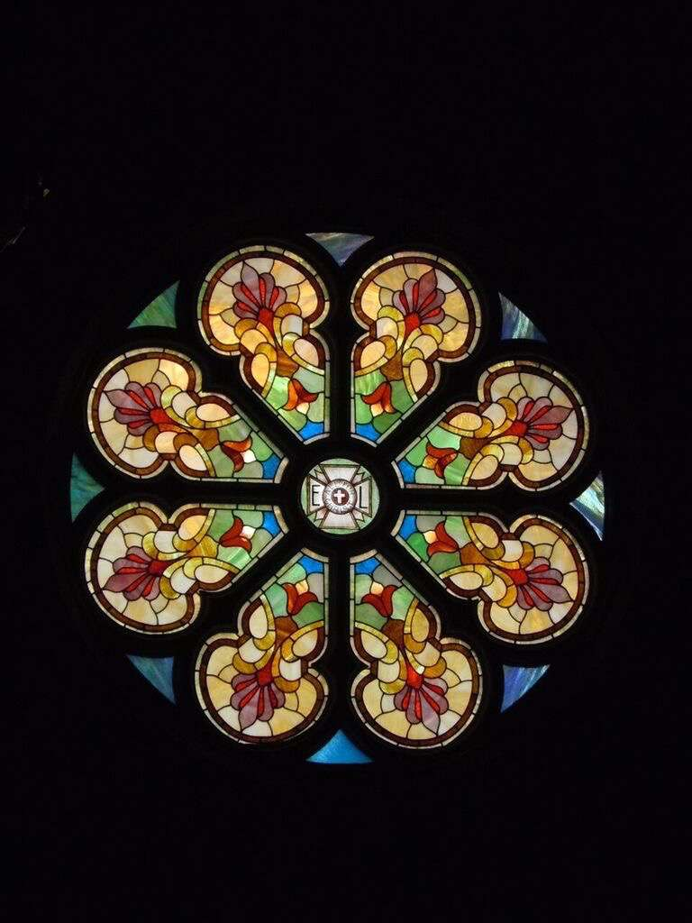 Rose window restored