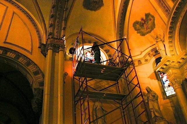 Annunciation scaffolding