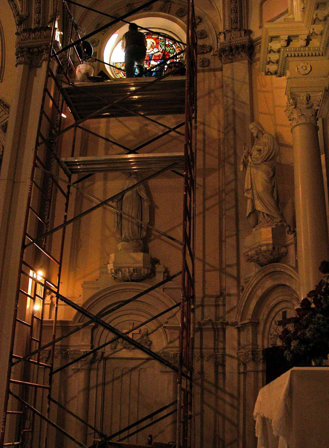 Annunciation repairs